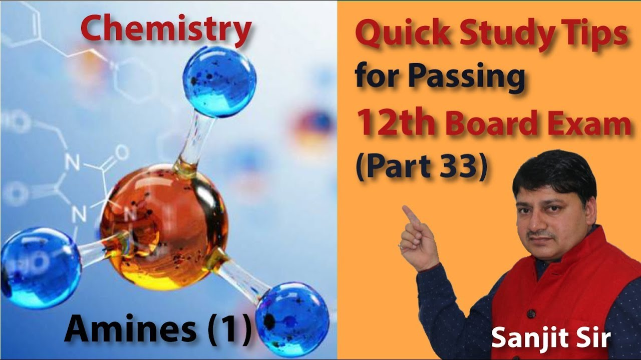 Quick Tips Class 12th Chemistry Exam/Tips/Notes (Part 33): Amines (1)