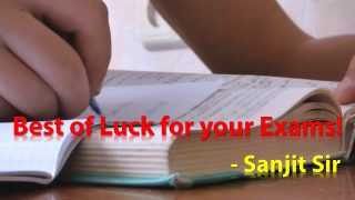 Best of Luck from Sanjit Sir for Class 10th & 12th Board Examinations